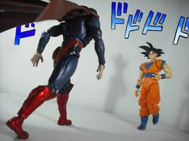 Goku vs. Superman but It's a JoJo Reference