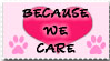 Because WE CARE_Stamp