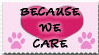 Because WE CARE_Stamp by JacquiJax