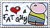 I Love a Fat Guy_Stamp by JacquiJax