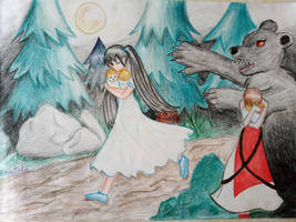 Moonlit bear