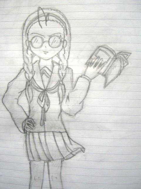 Nerdy Anime Girl By KatSerEst