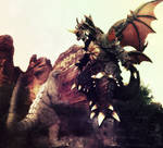 Godzilla Jr. vs Destroyah for Legrandzilla