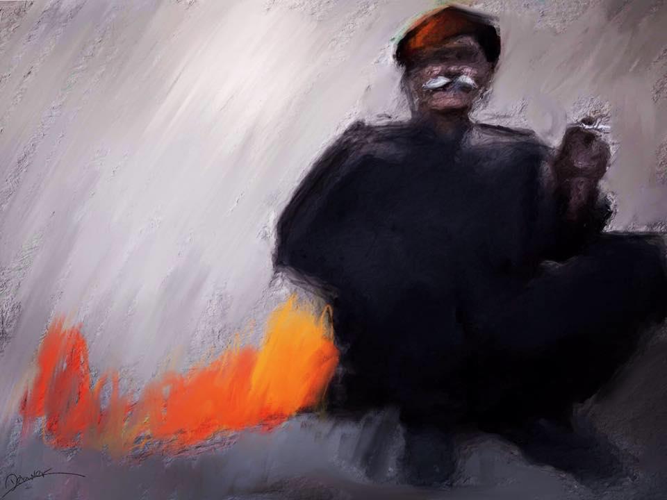 Old man left alone by Delawer-Omar