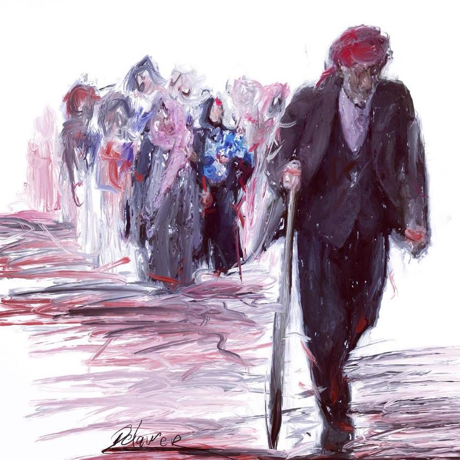 The Kurdish exodus by Delawer-Omar