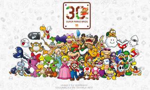 Super Mario 30th Anniversary Collage by ImaginatorVictor