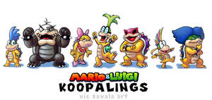 Mario and Luigi Styled Koopalings by ImaginatorVictor