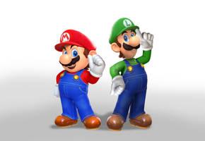 Mario Odyssey Luigi by ImaginatorVictor
