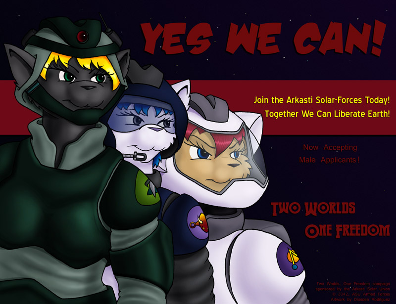 """Yes We Can"" ASU War Poster by Digoraccoon"