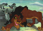 Scar Animation Cel