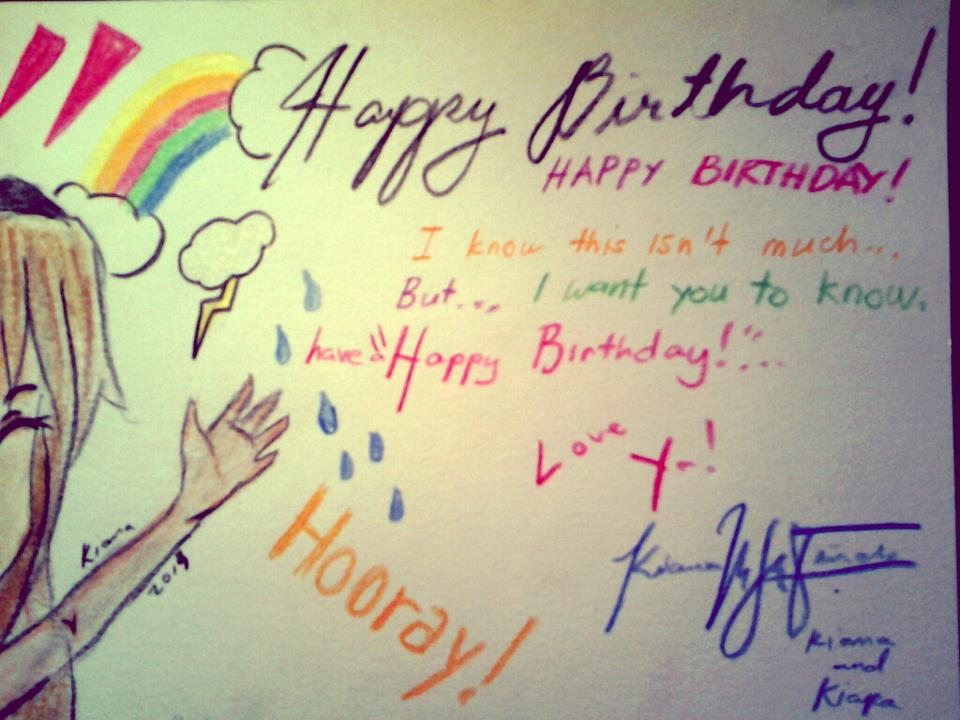 Happy Birthday Card To My Best Friend! By Mekikatoka ...