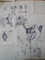 Screaming robot sketches by mechanimator