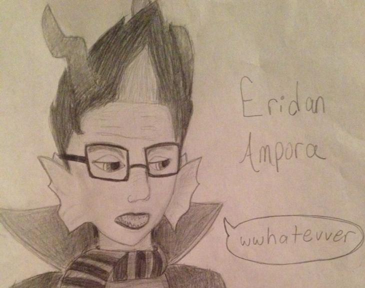 Eridan Ampora ((head only)) by TheCupcakeNerd