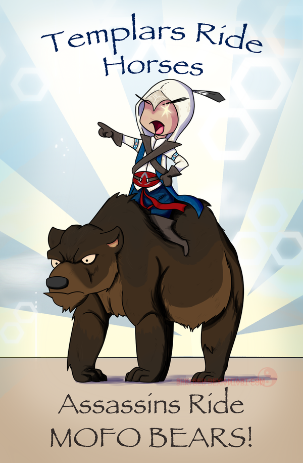 Bear Rider by suki-red
