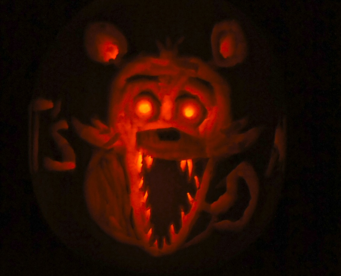 Foxy pumpkin five nights at freddys by alexmorgaen on
