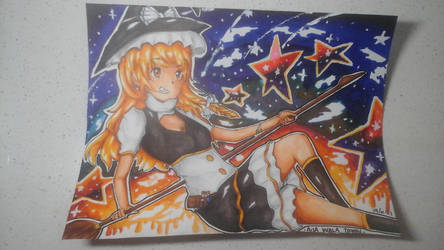 Marisa in a starry night