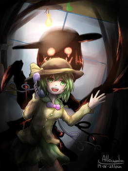 My name is Koishi, right now... I'm behind you!