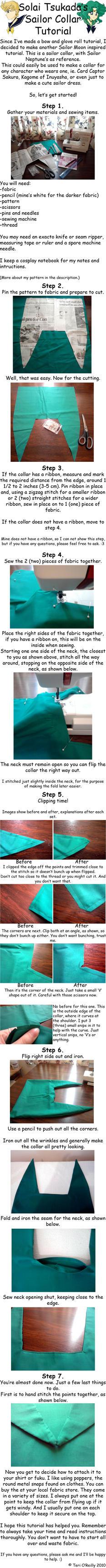 Sailor collar tutorial by Solai-Tsukada
