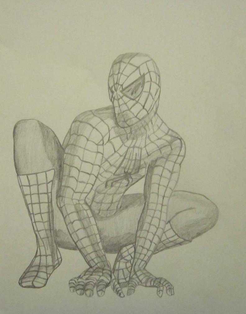 Spiderman pencil drawing by lmete on deviantart