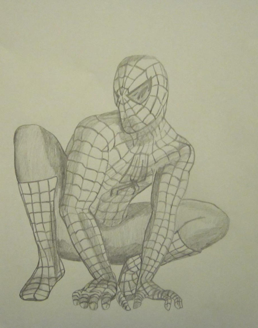 Spiderman Pencil Drawing By Lmete On Deviantart