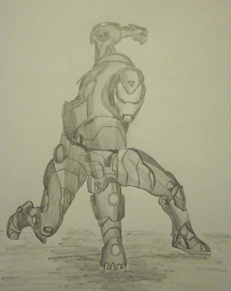 Iron Man Pencil Drawing by LMete on DeviantArt Iron Man Pencil Drawings