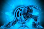 Blue Lantern Jazz Background