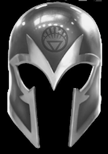 White Lantern Magneto Helmet By KalEl7