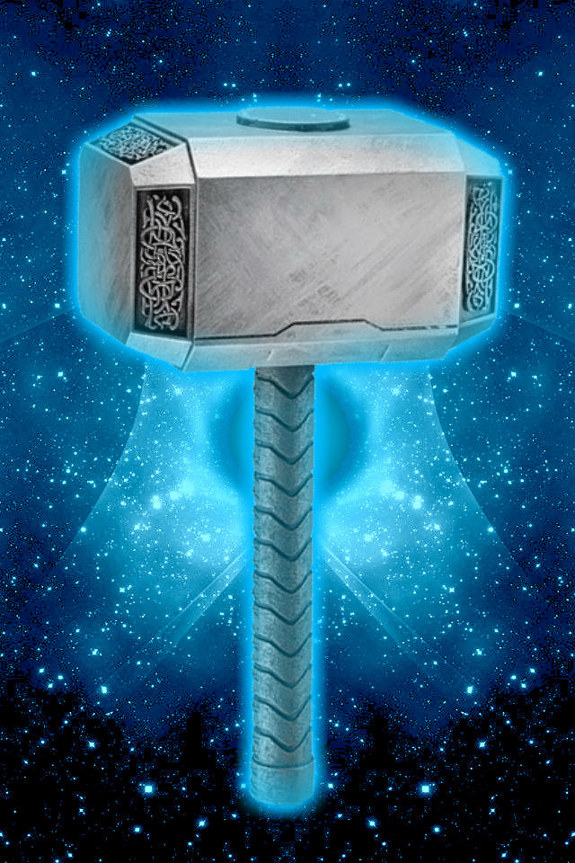 glowing thor hammer background by kalel7 on deviantart