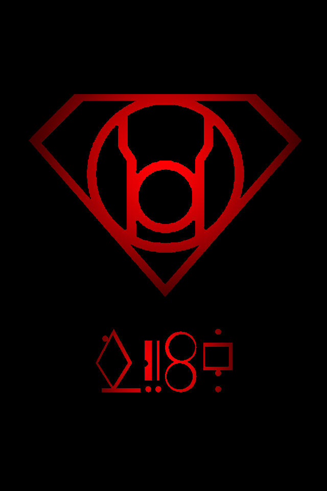 red lantern superman symbol