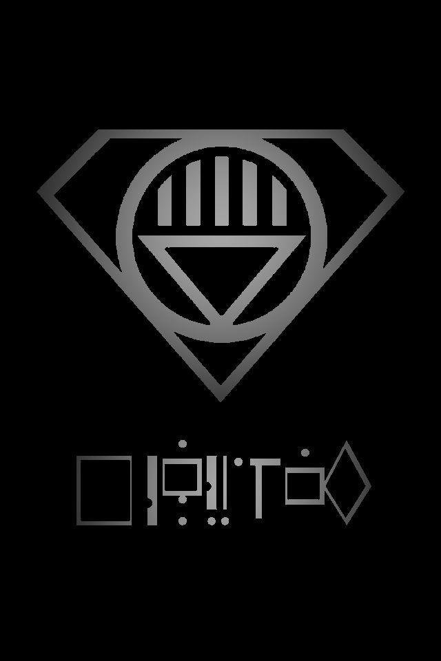 Black Lantern Superman Symbol