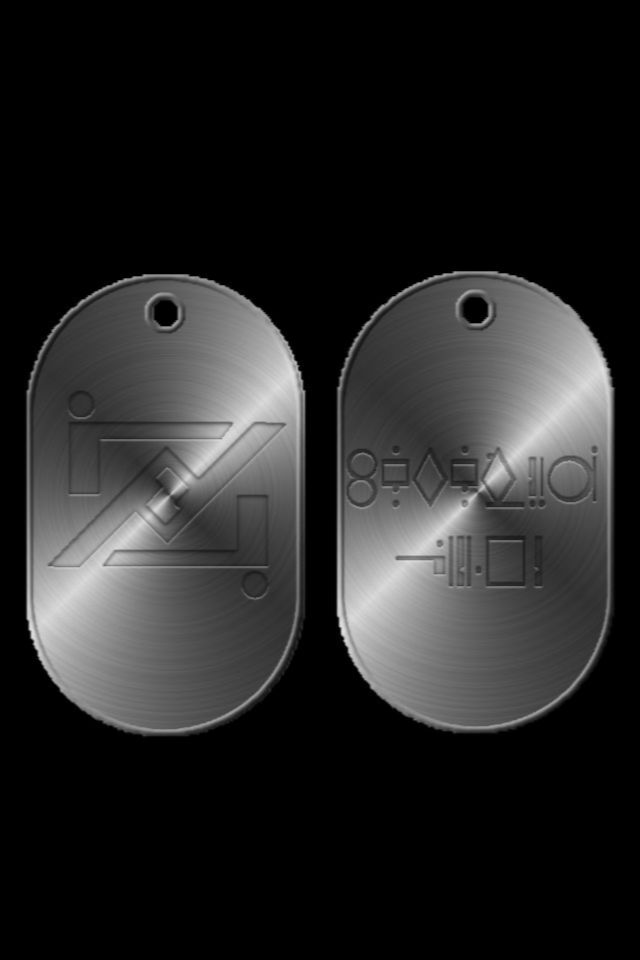 General Zod Dog Tag background