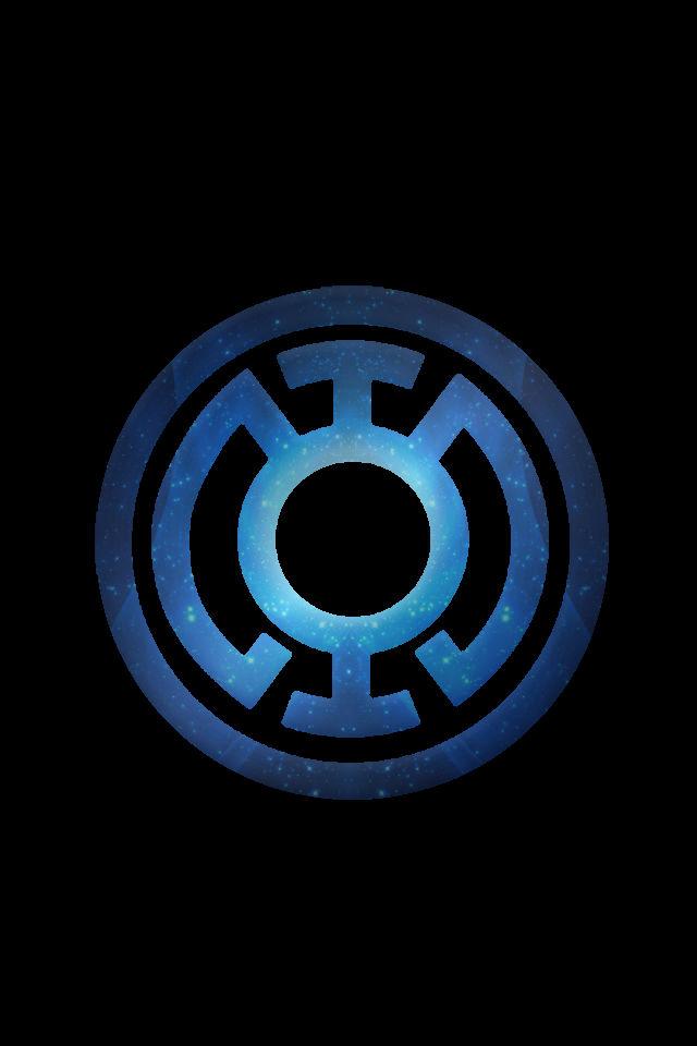 Stary Blue Lantern Logo background by KalEl7