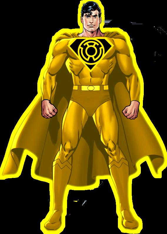 yellow lantern superman - 568×797