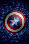 Captain America Swirling shield background