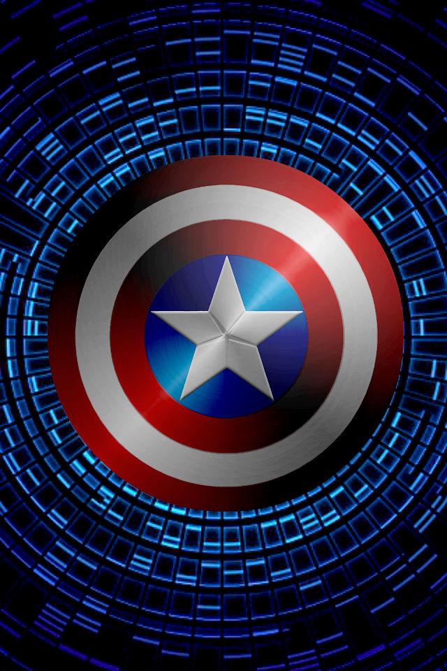 Captain America Swirling shield background by KalEl7