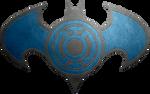 Batman Blue Lantern Metalic Logo