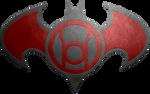 Batman Red Lantern Metalic Logo
