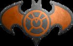 Batman Orange Lantern Metalic Logo
