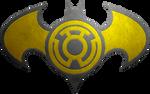 Batman Sinestro Lantern Metalic Logo