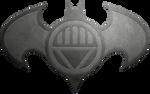 Batman Black Lantern Metalic Logo