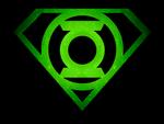 Superman Glowing Green Lantern Shield