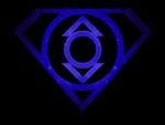 Superman Glowing Indigo Lantern Shield