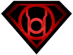 Superman Glowing Red Lantern Shield