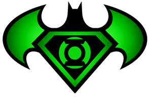 Superman Batman Green Lantern logo by KalEl7