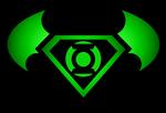 Superman Batman Green Lantern logo