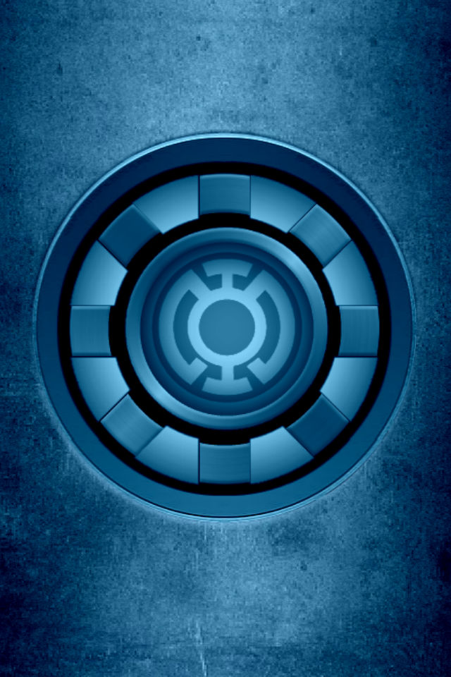 iron man blue lantern arc reactor background by kalel7 on