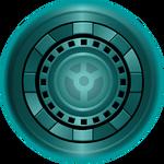 Teal Lantern Iron Man Arc Reactor