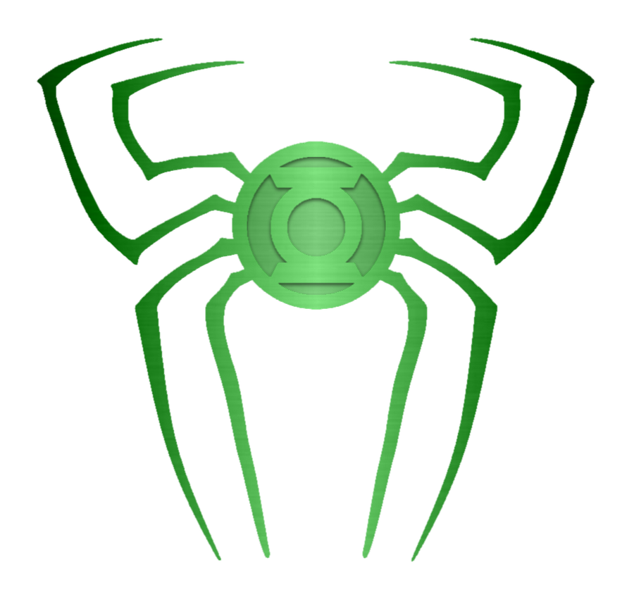 Spiderman Green Lantern Logo Metal test 1 by KalEl7