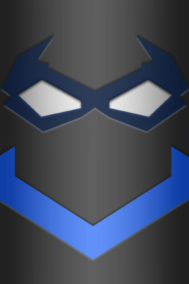 nightwing mask and chest logo wallpaper test 1 by kalel7. Black Bedroom Furniture Sets. Home Design Ideas