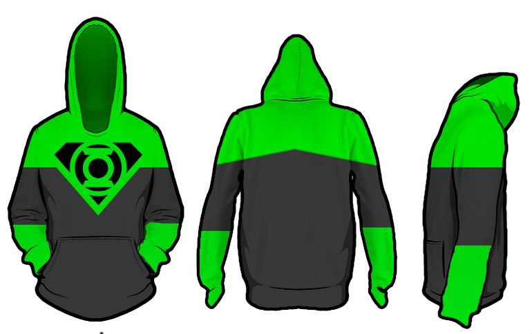 Superman X Green Lantern Hoodie test 1 by KalEl7